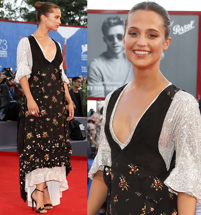 "Alicia Vikander at the premiere of ""The Light Between Oceans"" during the 2016 Venice Film Festival on September 1, 2016"