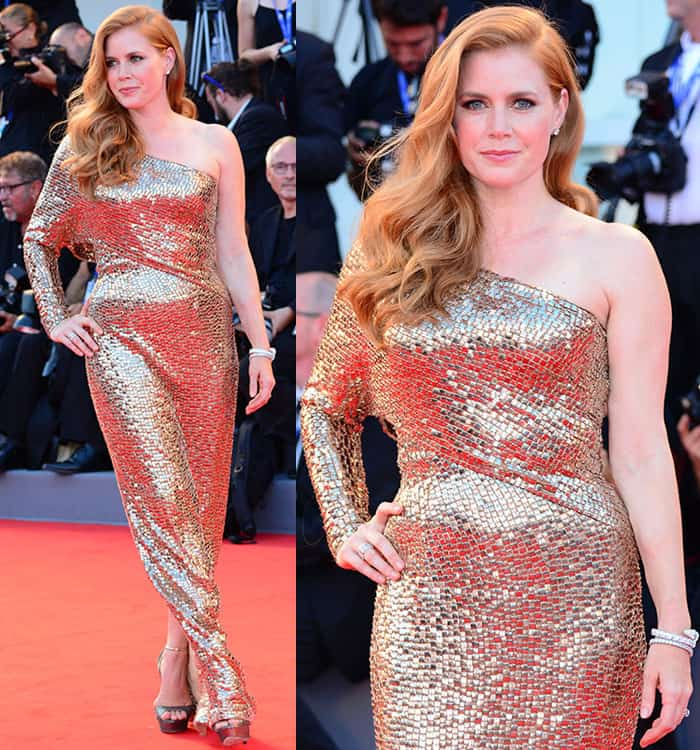 "Amy Adams at the premiere of ""Nocturnal Animals"" held during the 73rd Venice Film Festival on September 2, 2016"