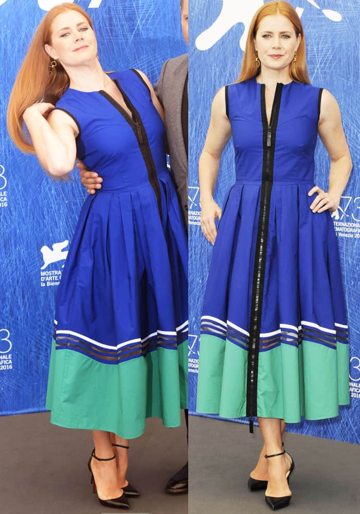 Amy Adams looked summer fresh in a dress by Fendi