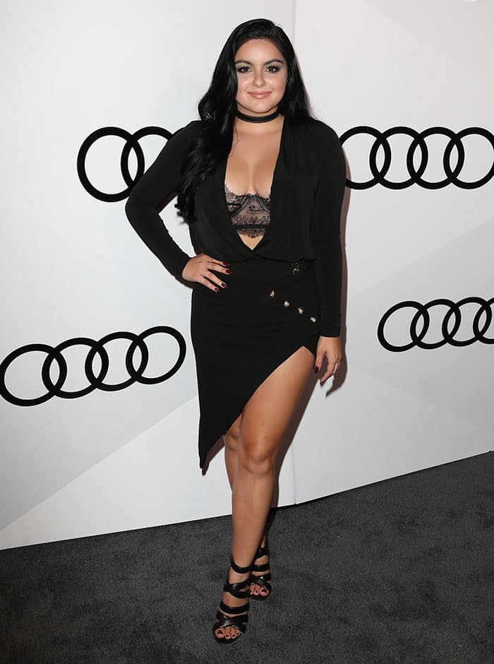 Ariel Winter shows off her figure at Audi's The 68th Emmys celebration