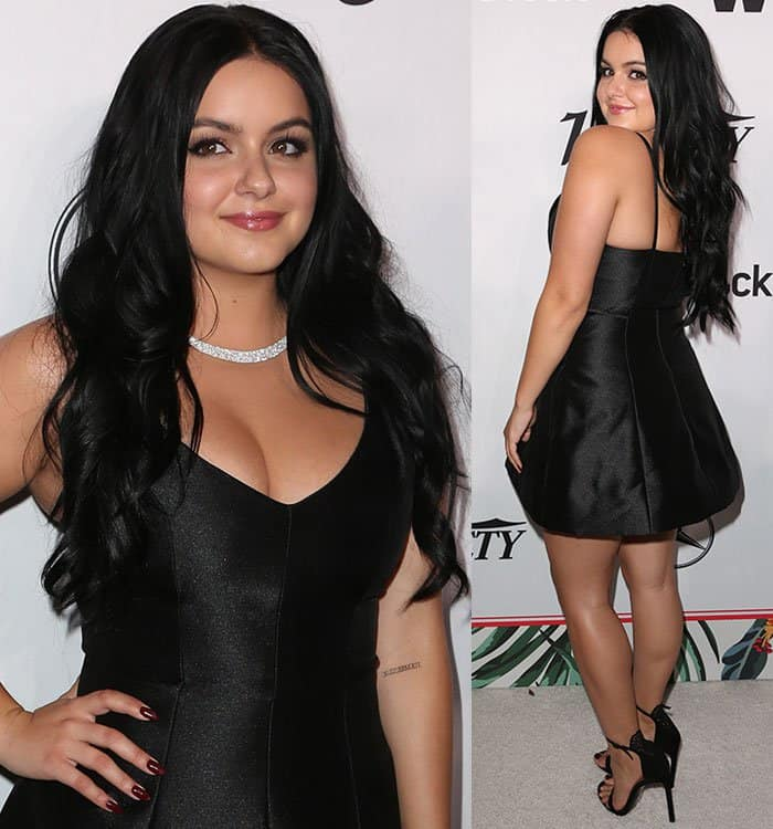 ariel-winter-cleavage-little-black-dress