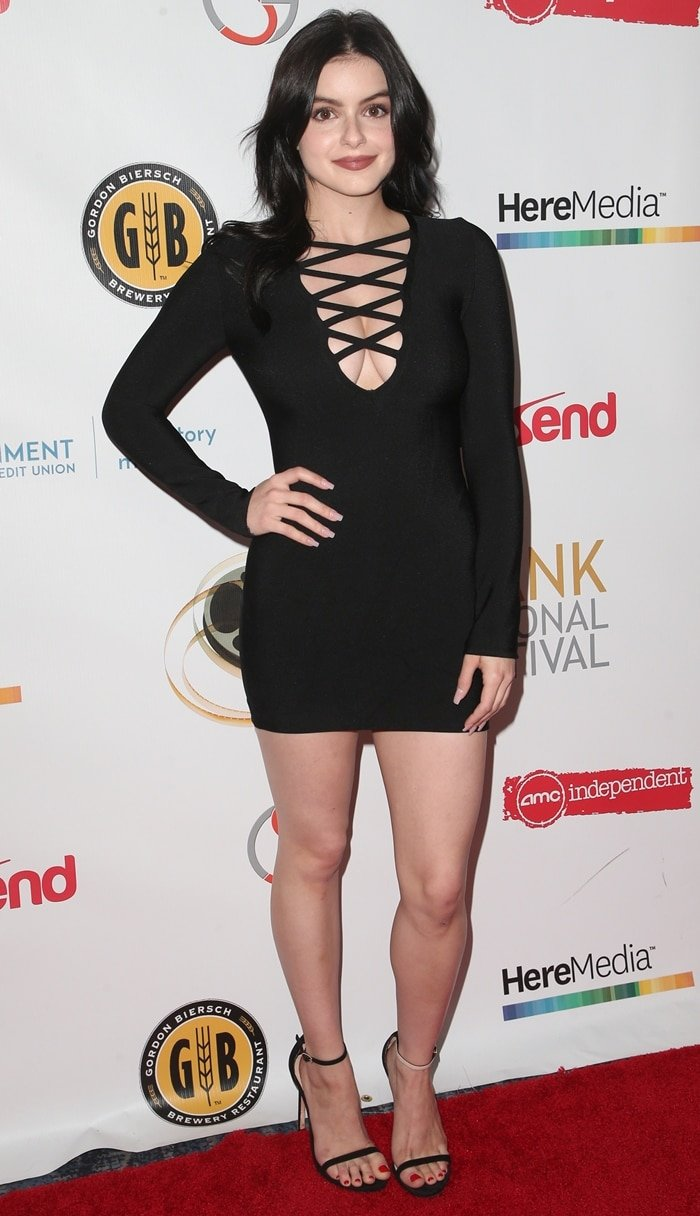 Ariel Winter flaunted her long legs while attending the 2019 Burbank Film Festival's closing night event