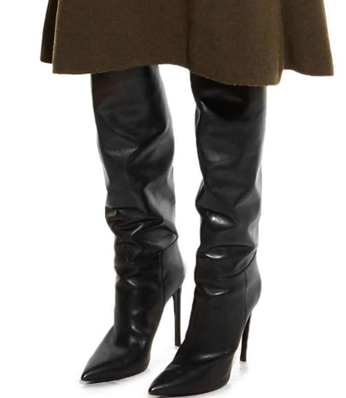 bf016cb6f7ef Kim Kardashian Twins with Fan in Balenciaga  All Time  Boots