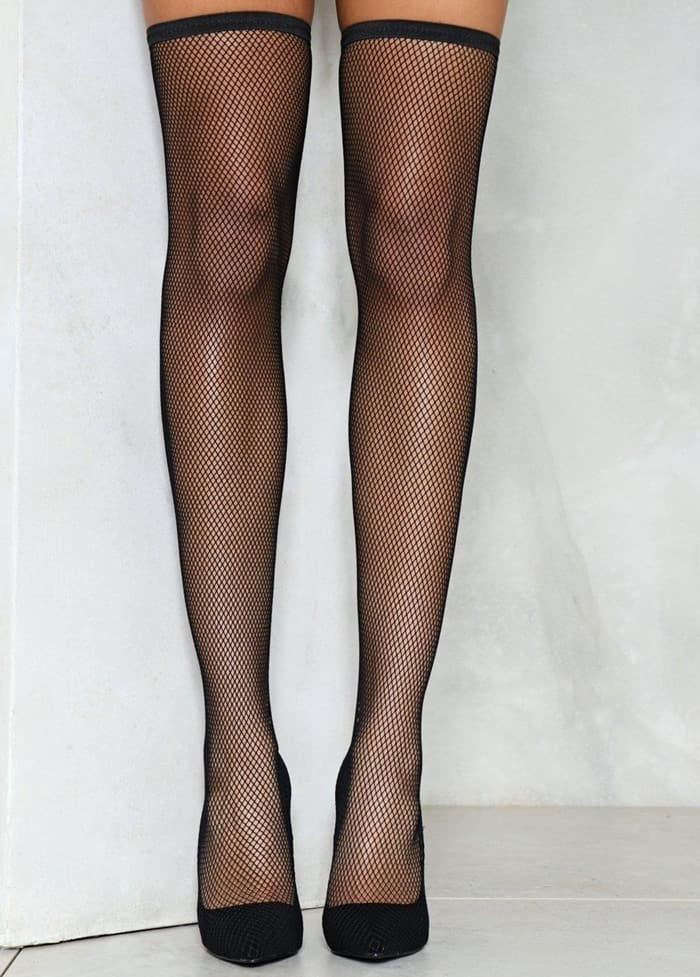 'Big Spender' Fishnet Heel