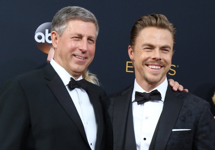 Julianne was joined at the Emmy Awards by her father Bruce Hough and her brother Derek Hough
