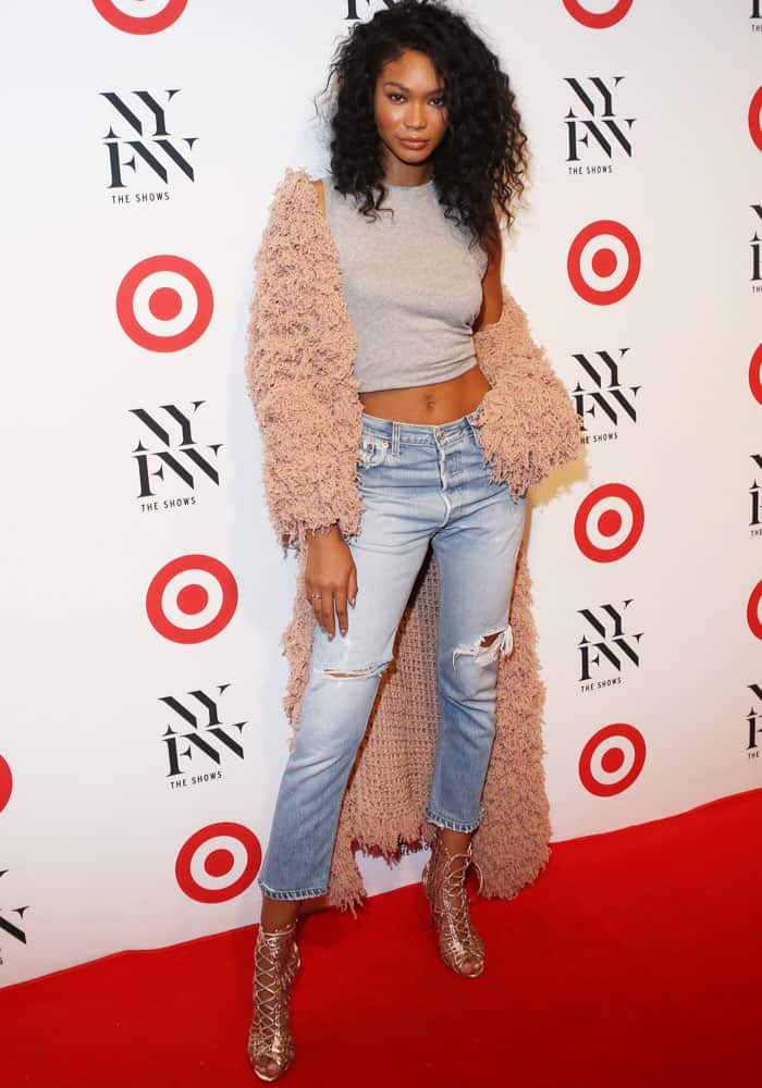 Chanel Iman schooled us on the proper summer-to-fall wardrobe transition