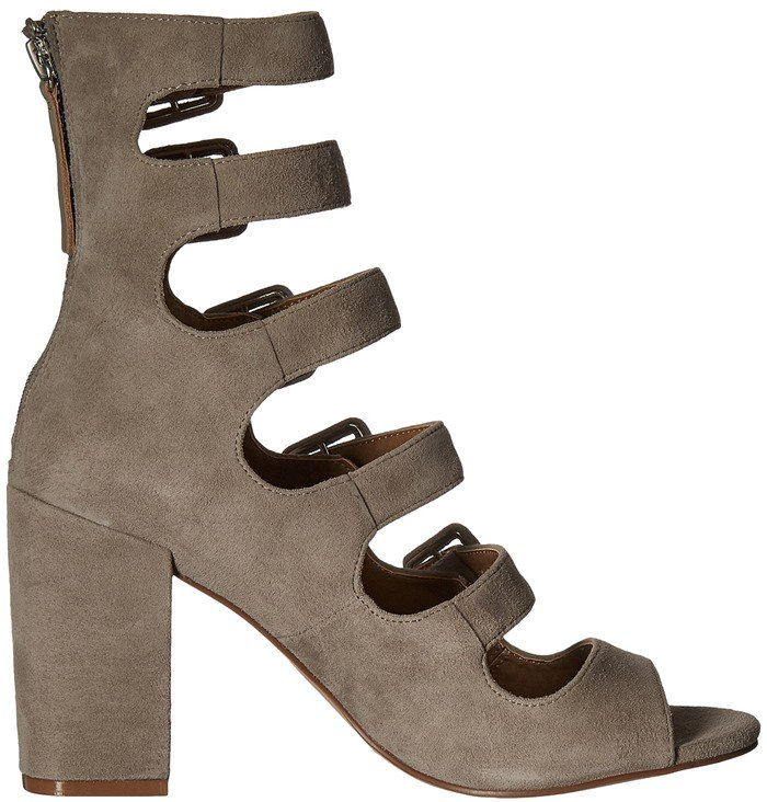 Chinese Laundry Twilight Cool Taupe Suede Booties