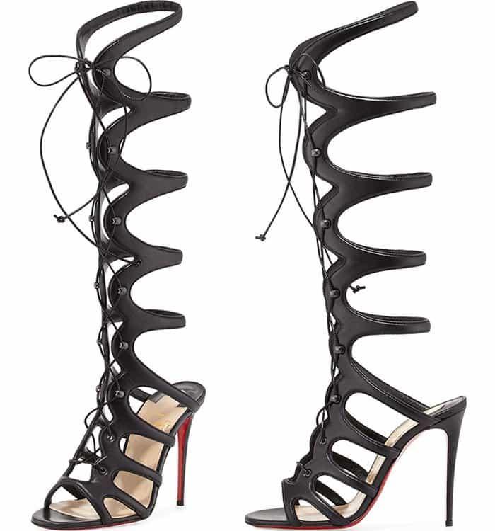 Christian Louboutin Amazoula Knee-High Gladiator Sandals