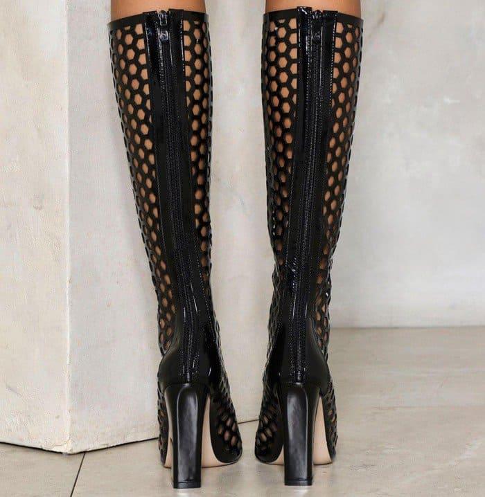 'City Slicker' Knee-High Patent Boot