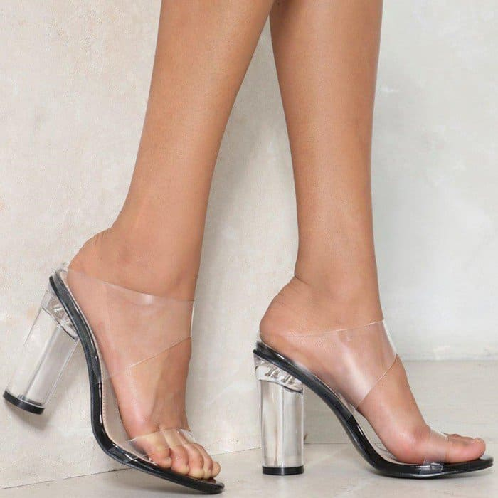 Clear Bliss Mules
