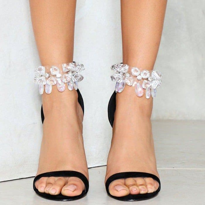 'Diamond in the Rough' Embellished Heels