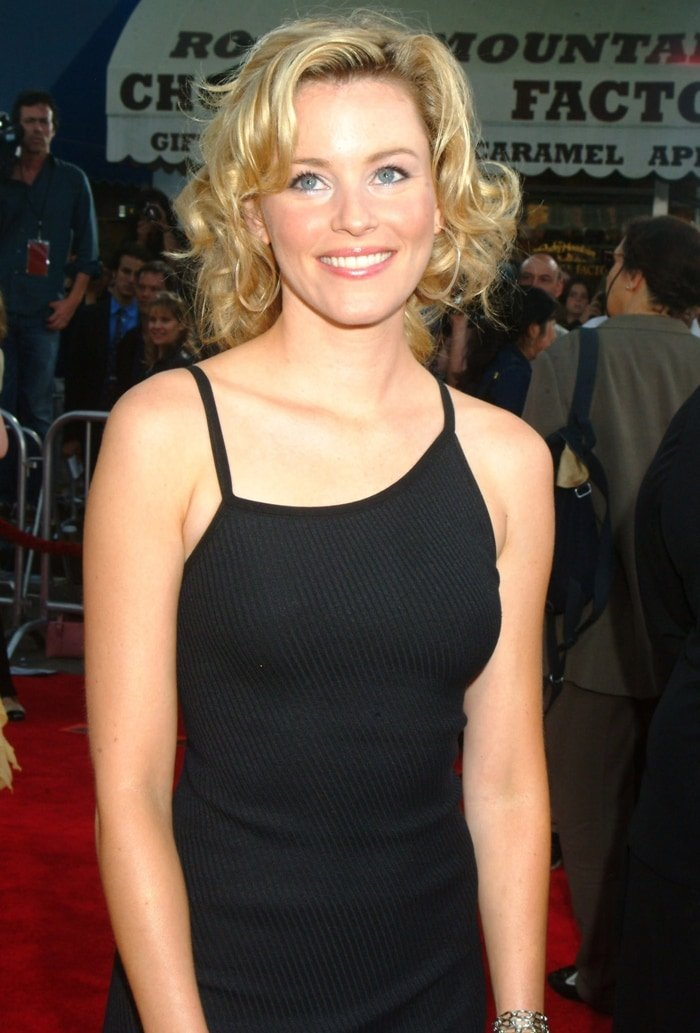 "Actress Elizabeth Banks attends the premiere of the Sony film ""Spider-Man 2"""