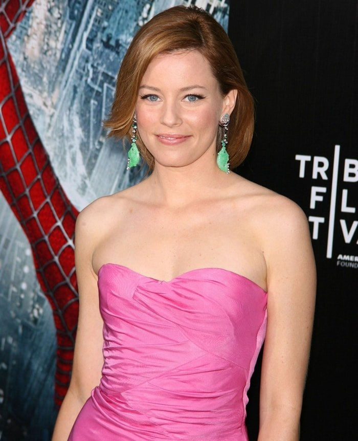 "Elizabeth Banks attends the ""Spider-Man 3"" premiere at the Tribeca Film Festival"