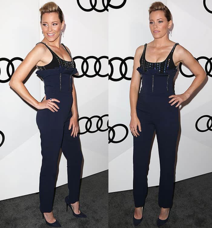 elizabeth-banks-cleavage-bejeweled-jumpsuit