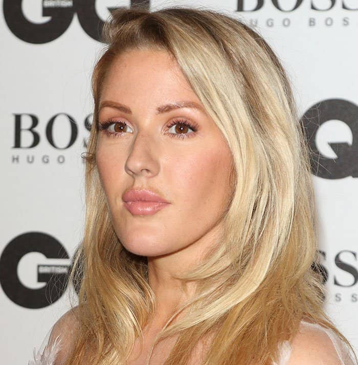 Ellie Goulding wore her locks down and let her natural beauty shine with minimal makeup