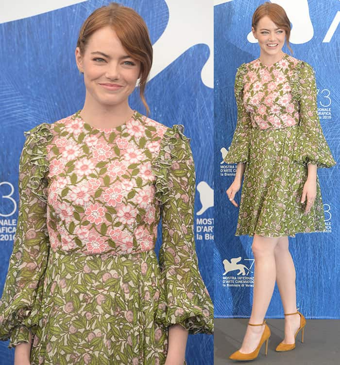 Emma-Stone-Giambattista-Valli-floral-dress