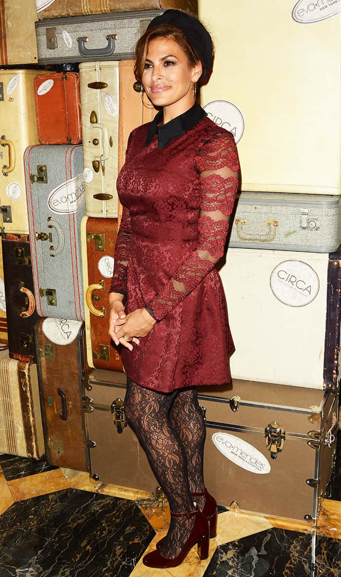 eva-mendes-red-sheer-lace-dress-stockings