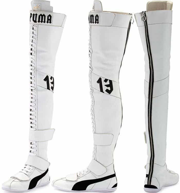 9da06b487 Fenty Puma by Rihanna Eskiva Leather Over-the-Knee Sneaker Boots