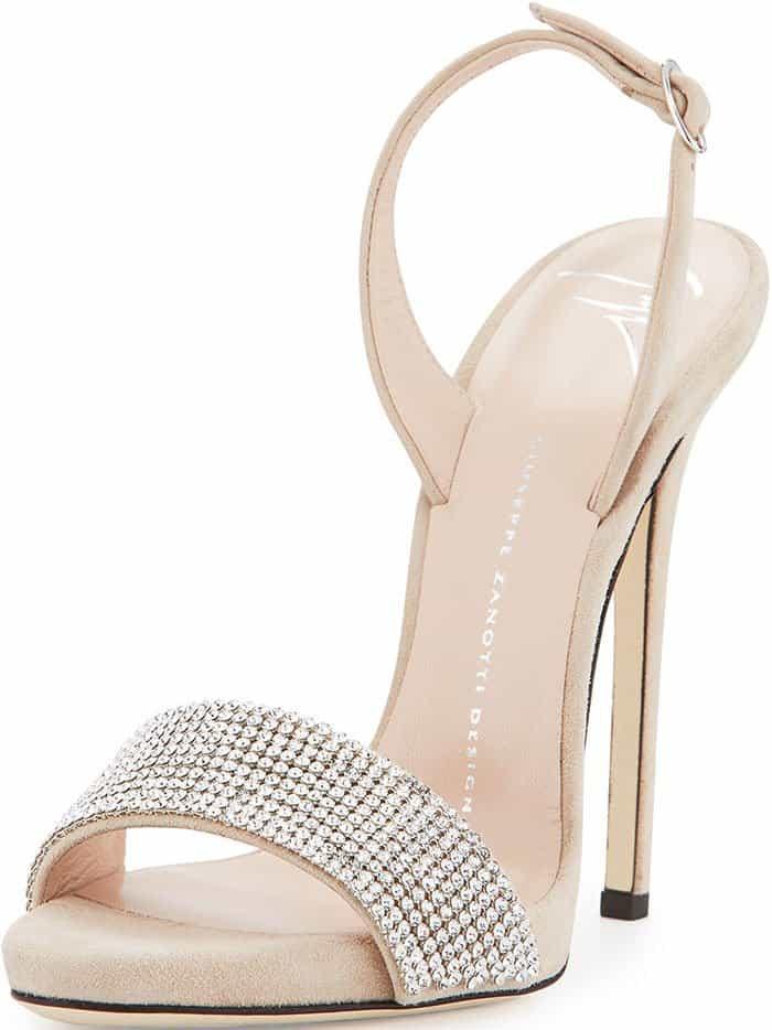 Crystal-Embellished Slingback Sandals