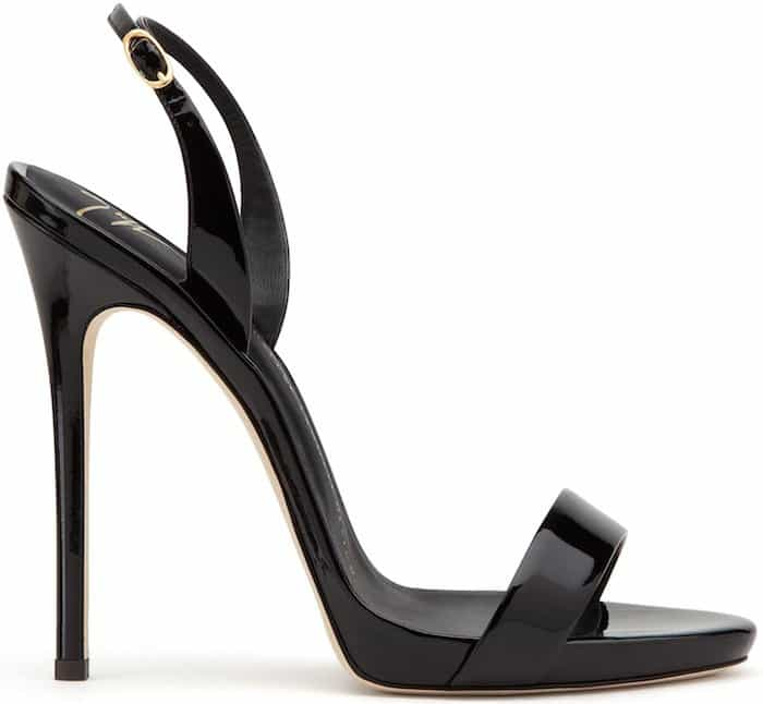 "Black ""Sophie"" slingback sandals"