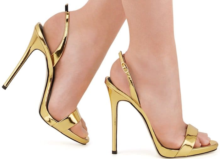 "Gold ""Sophie"" slingback sandals"