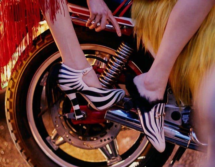Gucci 'Lesley' Zebra Leather & Fur Pumps