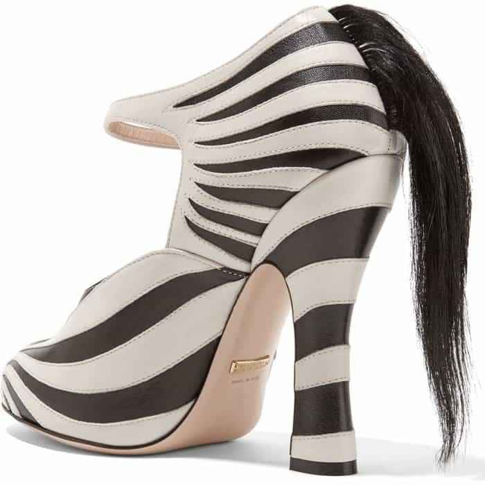 81f3913ff Gucci's Mind–Boggling 'Lesley' Zebra Leather & Fur Pumps