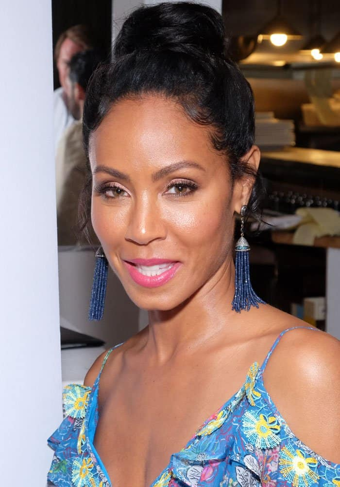 """Haute Living magazine hosts an intimate dinner with Jada Pinkett Smith to celebrate her upcoming movie """"Girls Trip"""" at Southampton on July 21, 2017"""