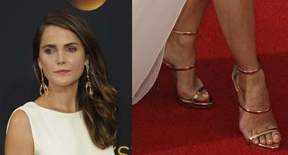 Keri Russell Nominated In Giuseppe Zanotti Coline Sandals At Emmy Awards