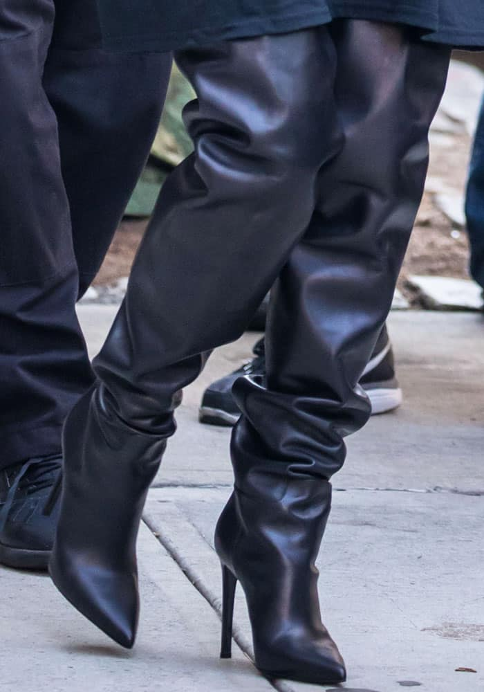 Kim Kardashian in Balenciaga Over-the-Knee Boots