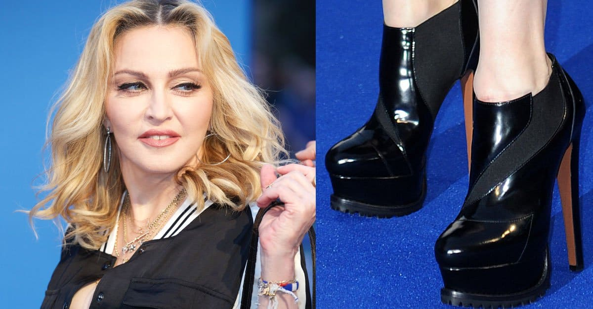 Madonna Sings Along To Beatles In Platform Ala 239 A Boots