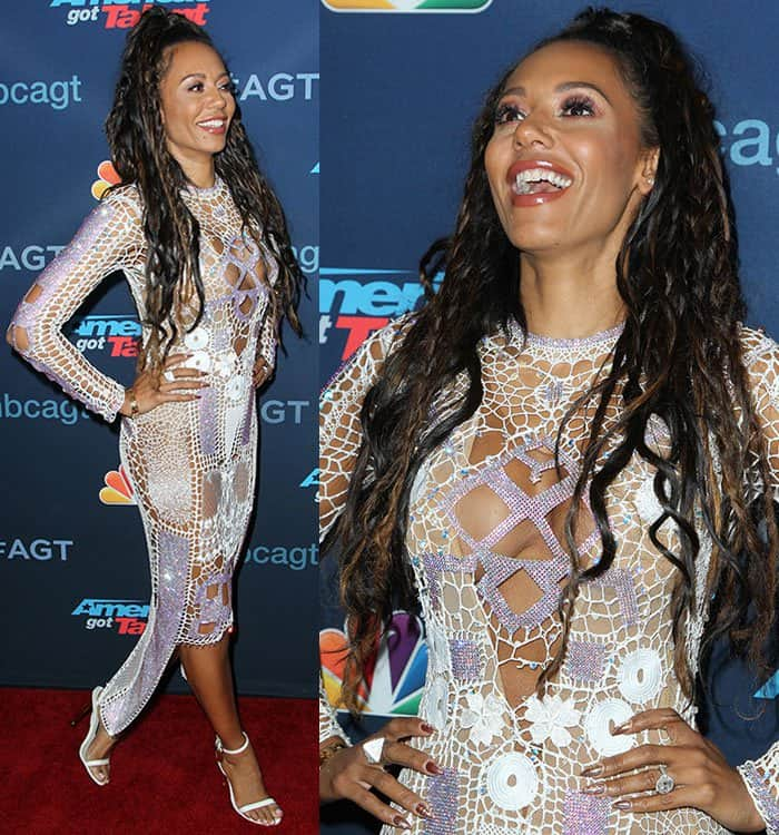 mel-b-cut-out-embellished-white-dress-nude-bodysuit
