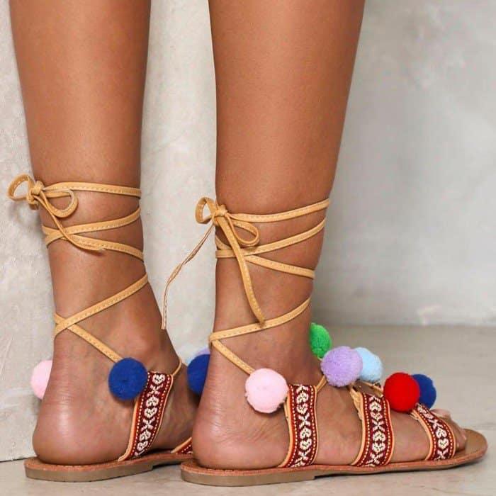 'On the Ball' Pom Pom Sandal