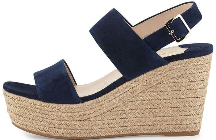 Prada Suede Wedge Sandals Espadrille 2