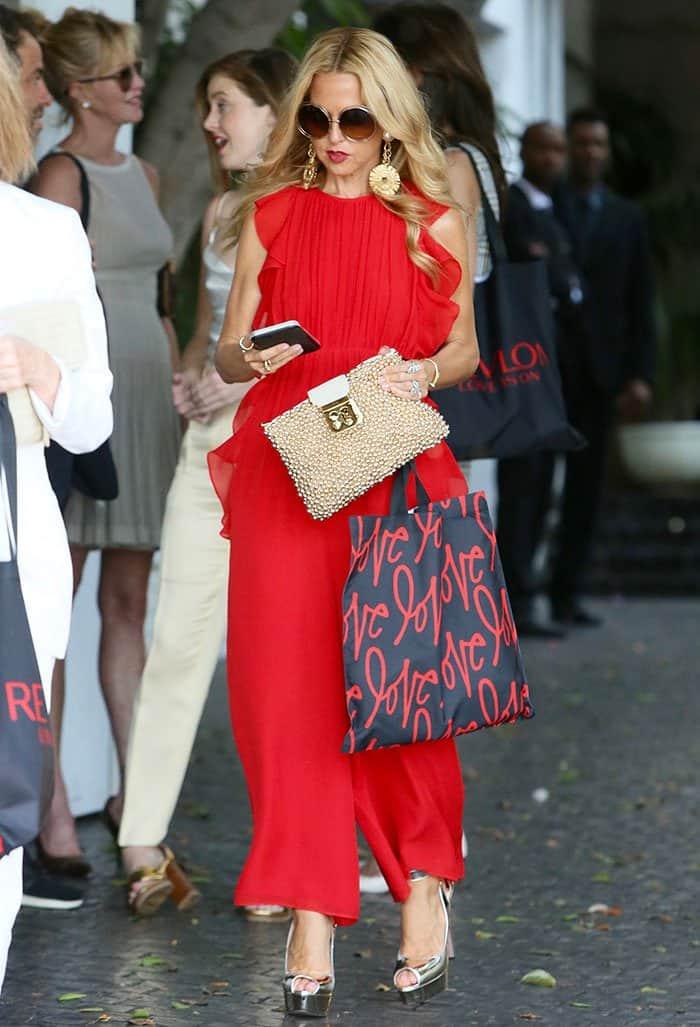 rachel-zoe-red-ruffled-jumpsuit
