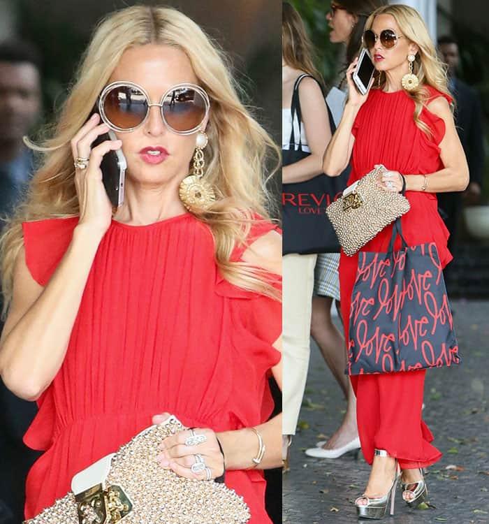 rachel-zoe-red-softly-pleated-ruffle-maxi-dress