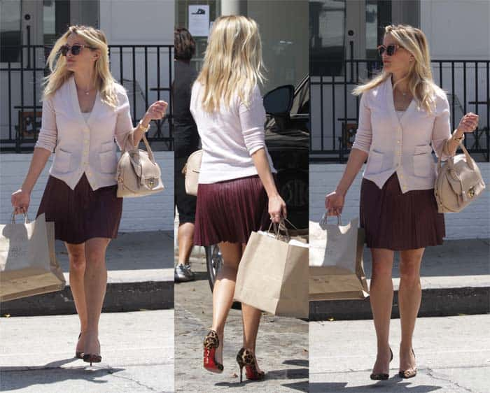 buy popular b64ea 4d6d0 Reese Witherspoon in Christian Louboutin 'Iriza' D'Orsay Pumps