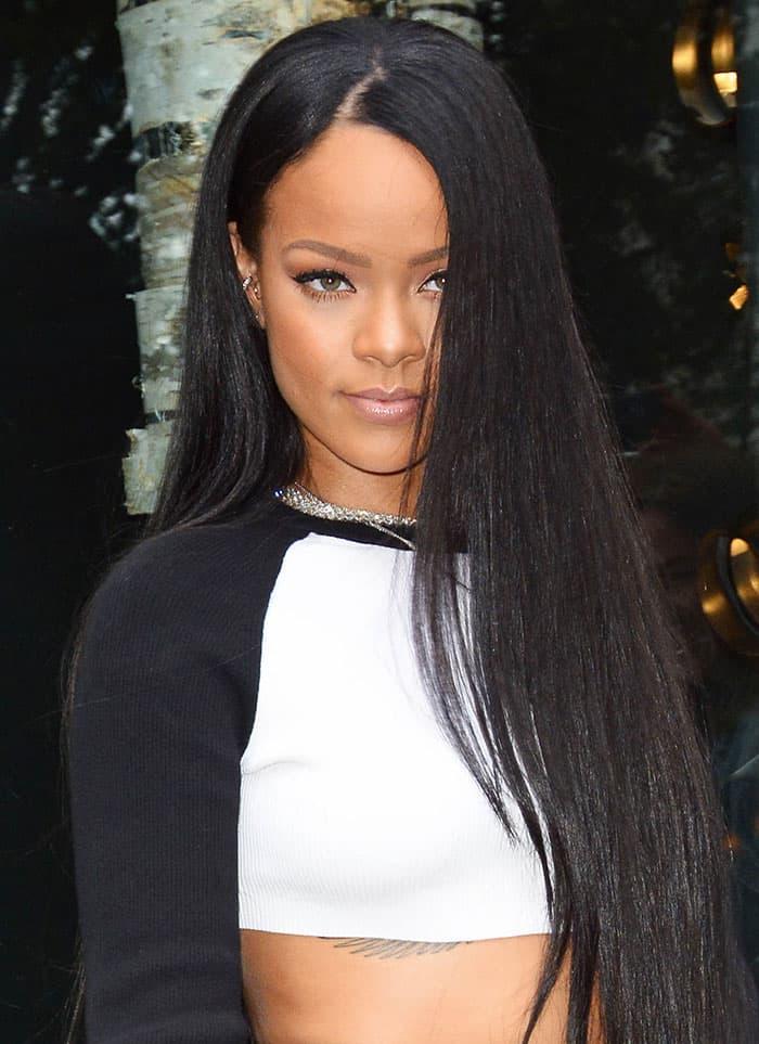 Rihanna Models Her Fenty Puma Collection At Bergdorf Goodman