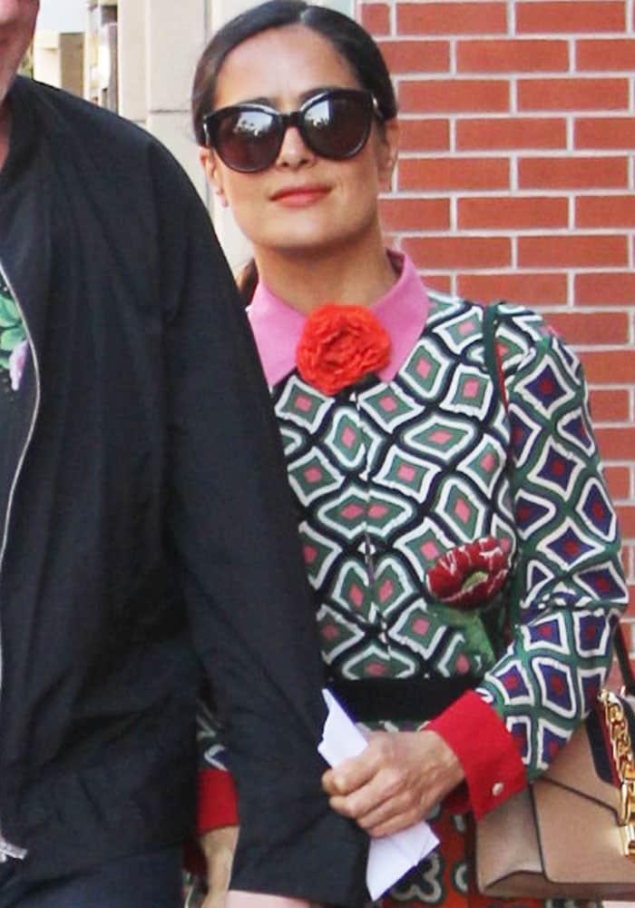 Salma Hayek Husband Beverly Hills Gucci 1