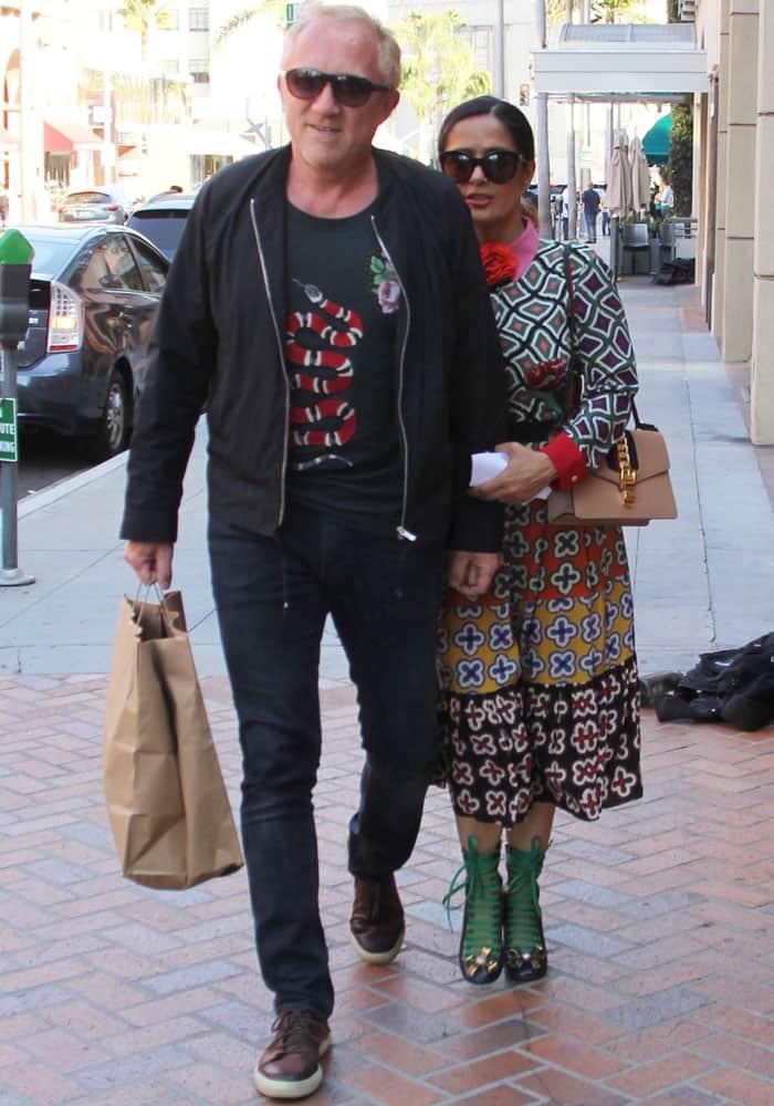 Salma Hayek Husband Beverly Hills Gucci 3