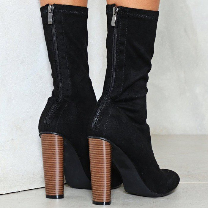 'Sit Tight' Vegan Suede Sock Boot