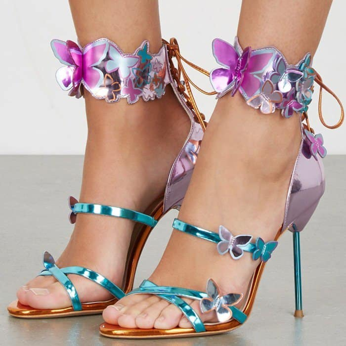 butterfly detail sandals - Metallic Sophia Webster By3vcmBF