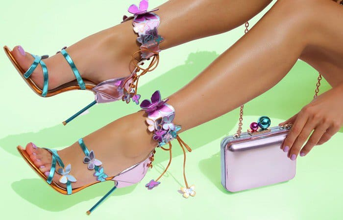>Sophia Webster 'Harmony' Metallic Leather Butterfly Sandals