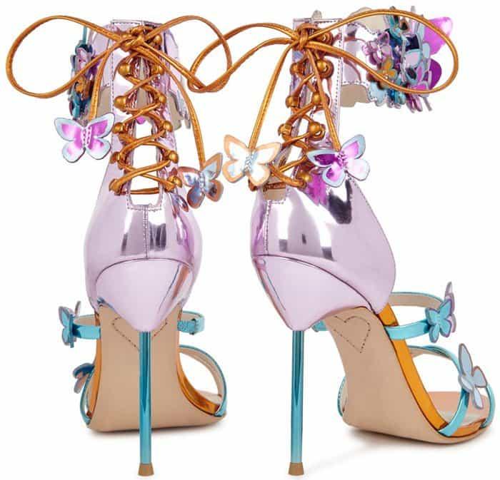 >Sophia Webster 'Harmony' Metallic Leather Butterfly Sandals
