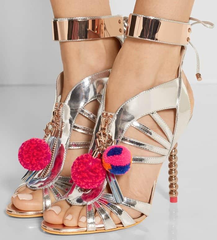 sophia-webster-yasmina-pom-pom-embellished-mirrored-leather-sandal