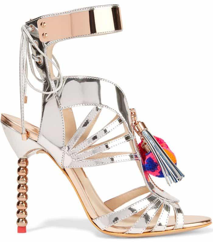 sophia-webster-yasmina-pom-pom-embellished-mirrored-leather-sandals
