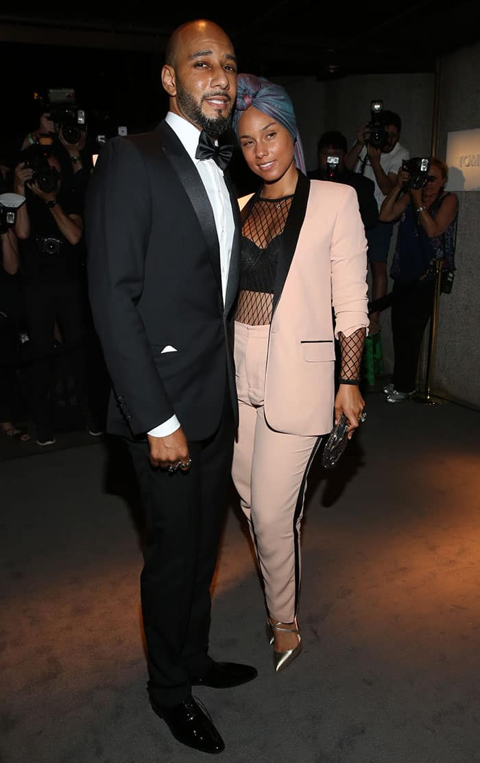 Alicia Keys and Swizz Beatz at Tom Ford presentation during New York Fashion Week SS17 in New York City on September 7, 2016