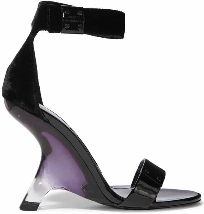 995a19f91a7 Sculptural Tom Ford Patent-Leather and Velvet Perspex Heels