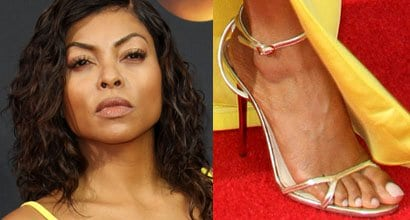 c6c5a3a776 Taraji P. Henson Shows off Personalized Edie Parker Clutch and Jimmy Choo  Sandals