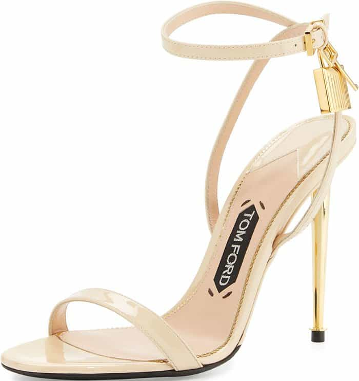 Tom Ford Patent Leather Ankle Lock Sandals